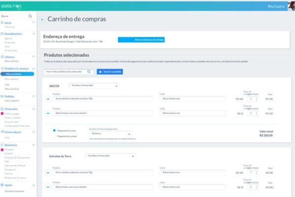 clinica-fazendo-pedido-step-1-steticmob-interface900px